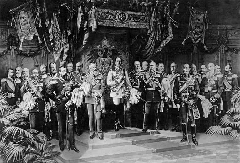Corte germânica durante a coroação do Kaiser Wilhelm II, Imperador Alemão e rei da Prússia em 1888