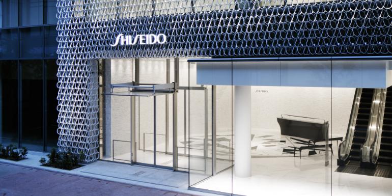 Fachada prédio comercial Shiseido no Japão