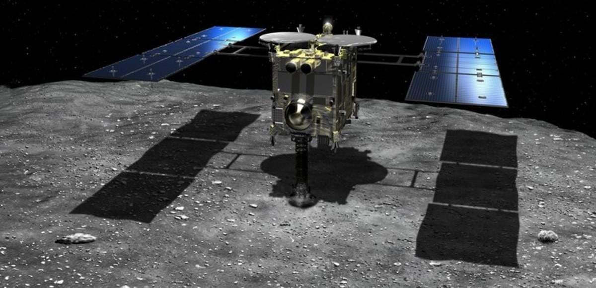 Hayabusa2 coleta amostra de asteroide Ryugu