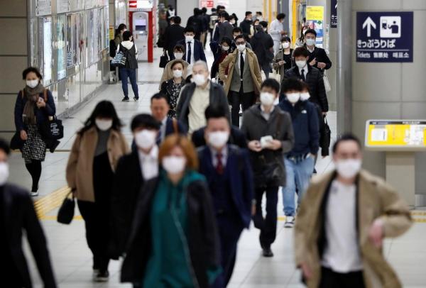 Aumento casos coronavírus no Japão