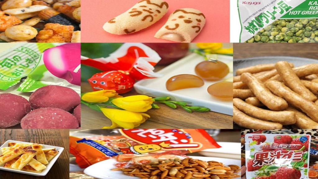 Comidas japonesas snack e guloseimas