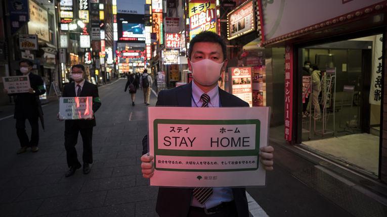 Campanha contra o coronavírus no Japão