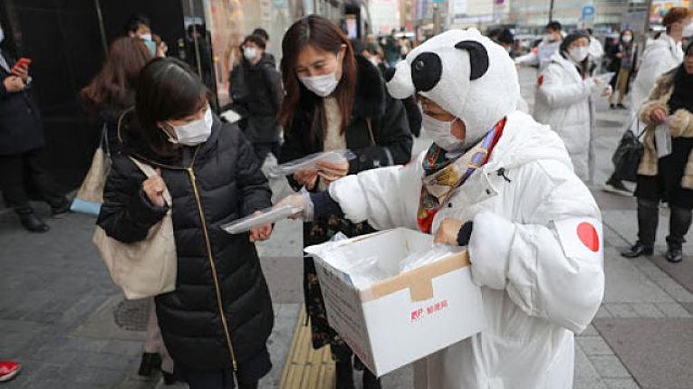 Campanha contra coronavírus no Japão