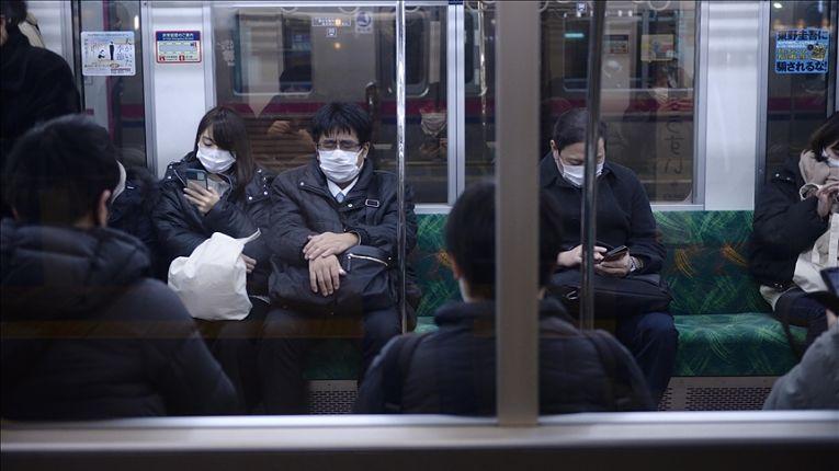 Trem no Japão em meio a pandemia de COVID-19