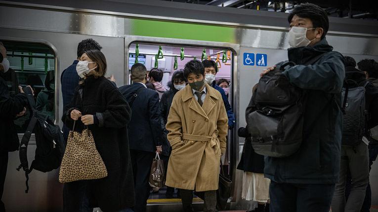 Transporte público na pandemia no Japão