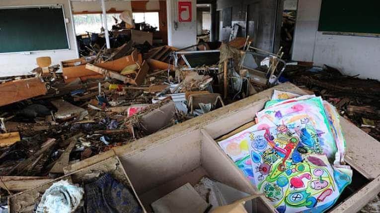 Escola Okawa destruída pelo Grande Terremoto de Tohoku