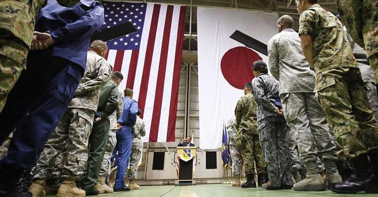 Forças armadas dos EUA ao lado das Forças de Autodefesa do Japão