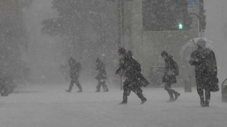Forte nevasca no Japão