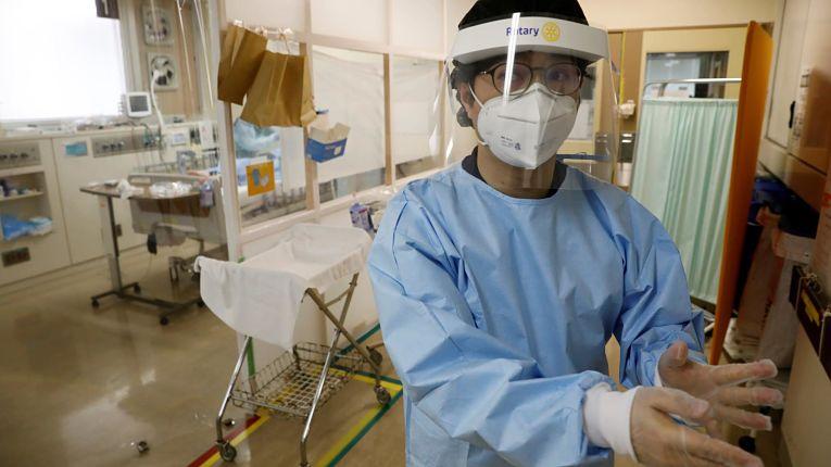 Leito hospitalar para pacientes com o novo coronavírus no Japão
