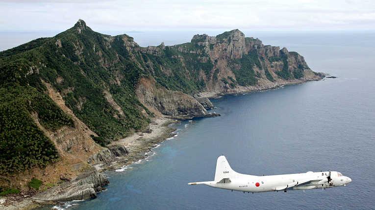 P-3C sobrevoa ilhas disputadas entre Japão e China