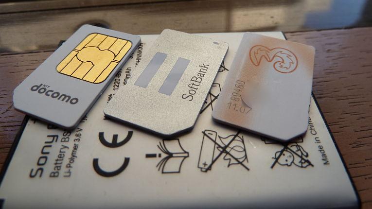 Chip SIM das maiores operadoras japonesas