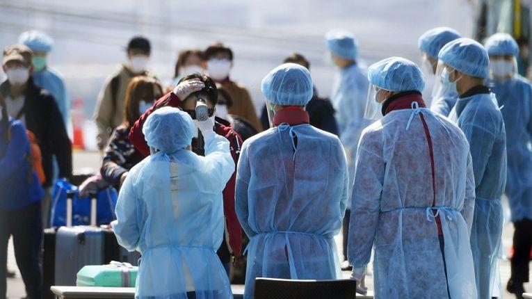 Medição da temperatura corporal no Japão