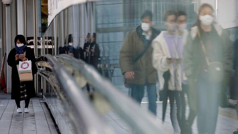Transito de pessoas no Japão em meio a pandemia do novo coronavírus SARS-CoV-2