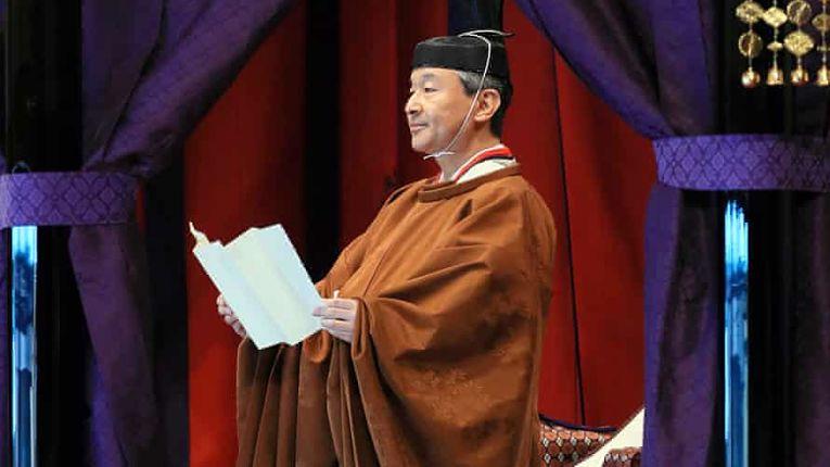 Imperador Naruhito realizou uma transmissão na véspera de seu aniversário de 61 anos