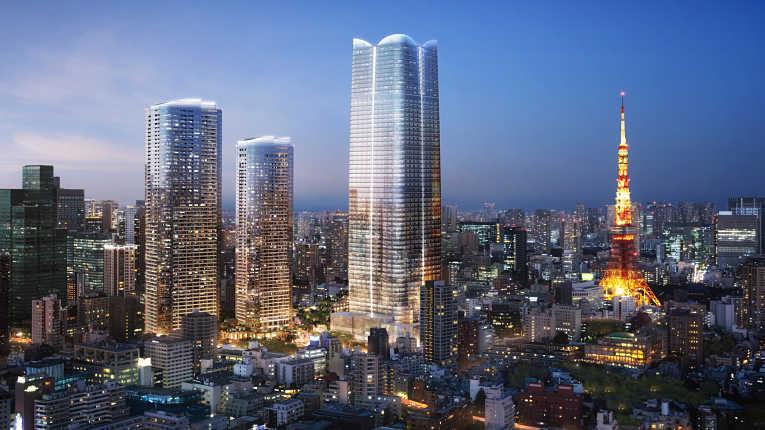 Conceito artístico do prédio que deverá ser concluído em 2023 e se tornar o edifício mais alto do Japão com 330 metros