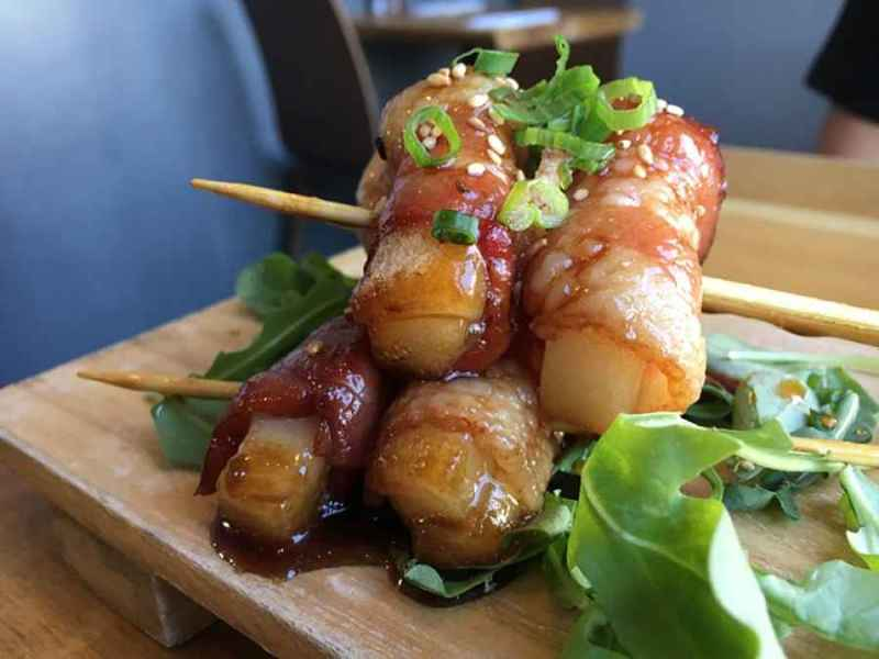 Receita de Yaki mochi com bacon