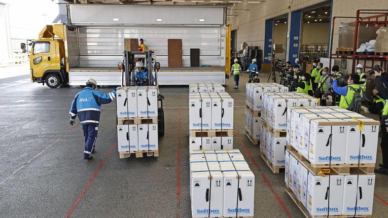 Nesse domingo o Japão recebeu o segundo lote de aproximadamente 450 mil imunizantes Pfizer-BioNTech