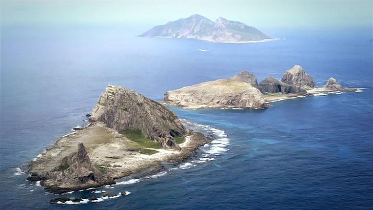 Conjunto de Ilhas disputadas. Embora desabitadas, potencialmente ricas em energia como petróleo e gás natural