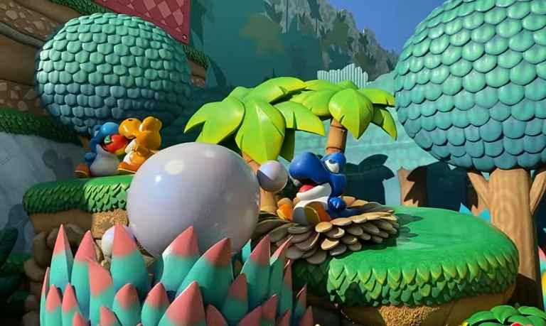 Detalhes do cenário do Yoshis Adventure