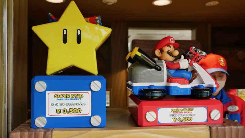Embalagens pipoca de estrela e mario kart