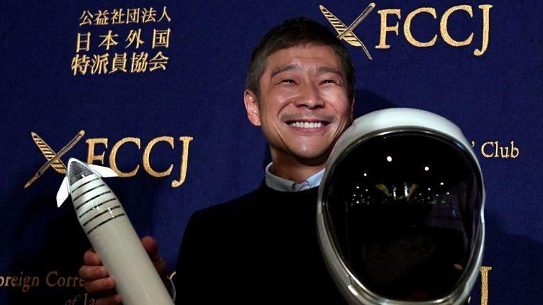 Bilionário e guru do mundo fashion Yasuku Maezawa está a procura de oito pessoas para partilhar uma viagem ao redor da Lua