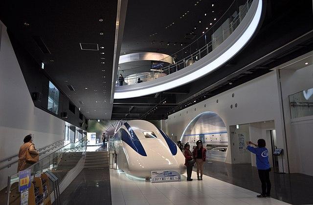 Trem Maglev em exposição em Yamanashi