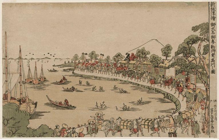 As procissões dos daimyōs dos seus domínios para Edo e vice-versa sempre eram muito custosas, porém, a depender da distância que um senhor tinha que percorrer, o custo de suas obrigações poderia ser literalmente astronômico
