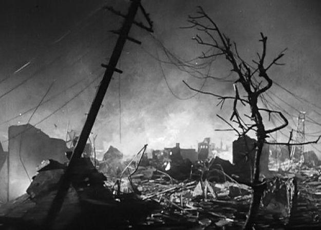 Frame de cena do filme Gojira 1954
