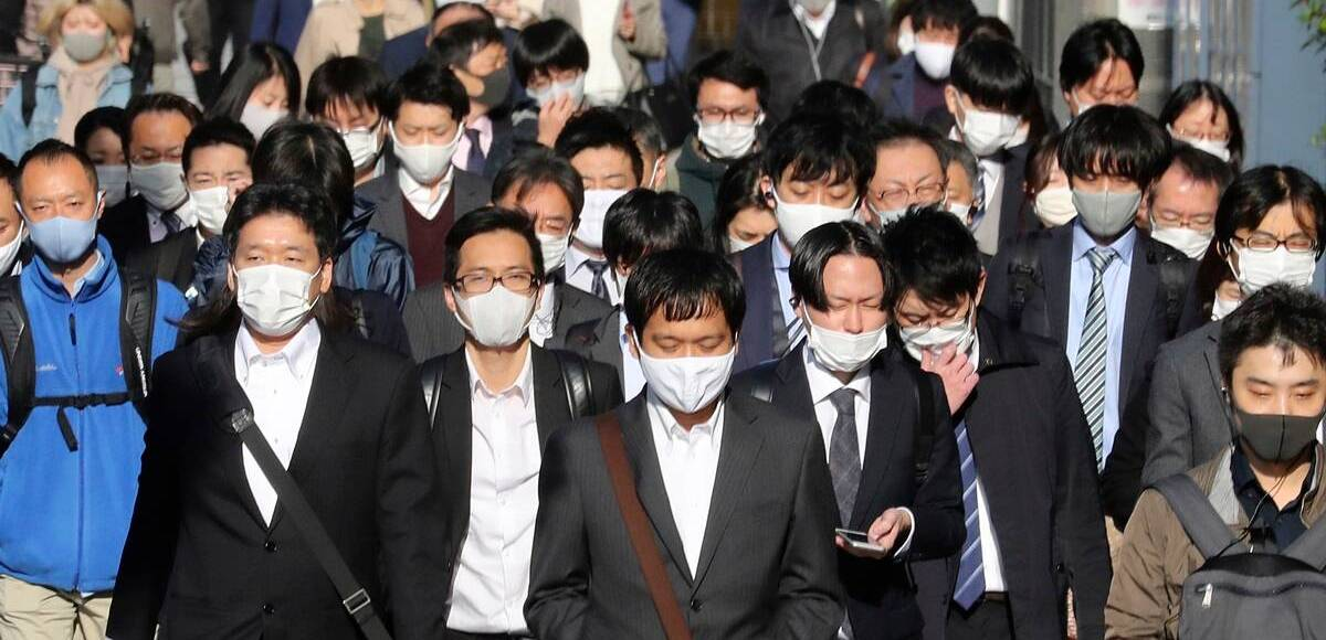 Boletim de casos no coronavírus no Japão