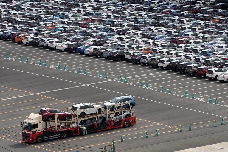 O principal motor das exportações do Japão em maio foi o setor de autopeças e automóveis. Foto por Akio Kon