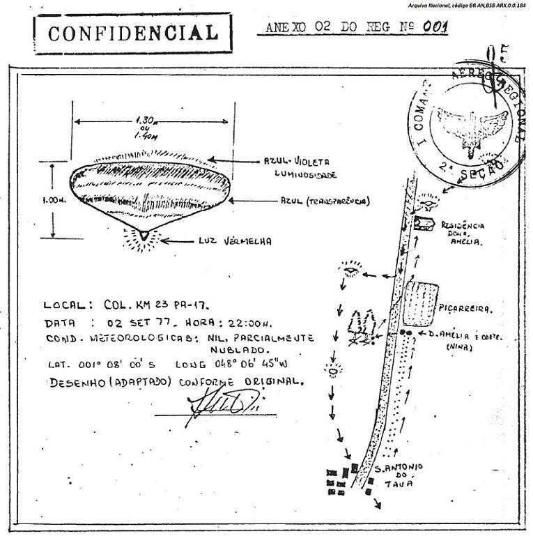 Documento desclassificado pela Força Aérea do Brasil e disponível no Arquivo Nacional, para visitar, clique em https://sian.an.gov.br/sianex/consulta/login.asp