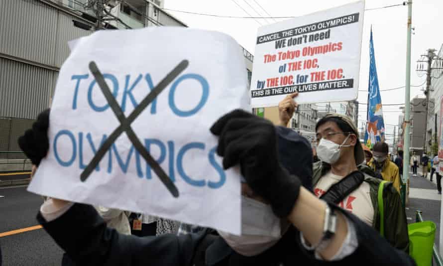 Protestos contra realização das Olimpíadas Tokyo