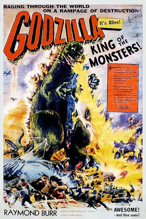 Pôster do filme americano Godzilla 1956