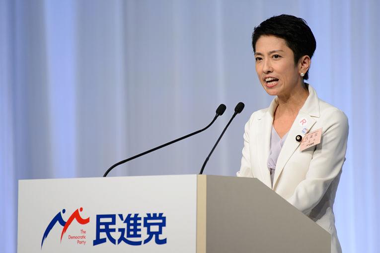Renho Murata, presidente do DPJ (Democratic Party of Japan), foi uma alternativa ao primeiro-ministro Yoshihide Suga. Foto por Akio Kon