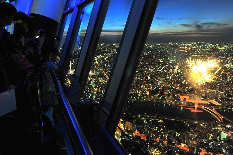 Visão da capital japonesa na Tokyo Skytree