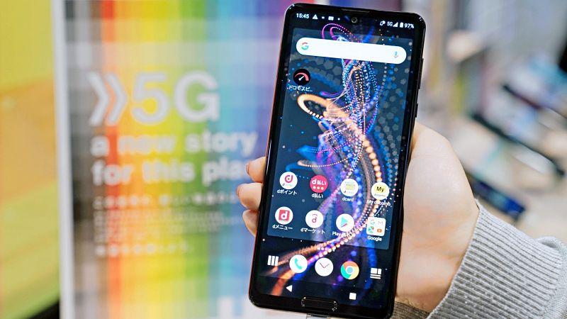 Aparelho celular para rede 5G da Docomo