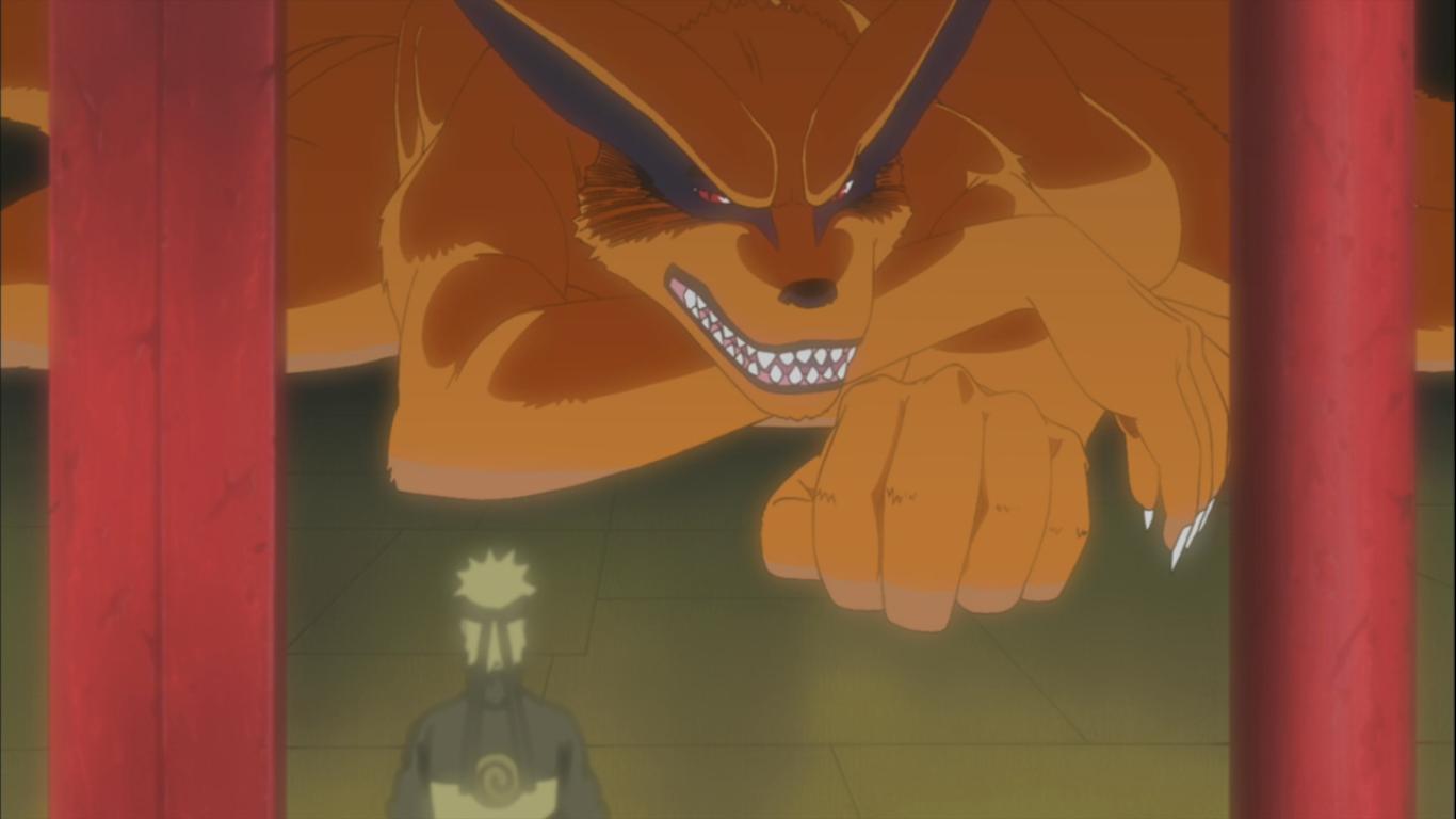 Biju Kyubi do Naruto Kurama