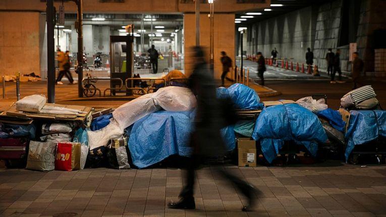Há uma camada de pobreza muito grande no Japão, especialmente por causa dos efeitos da pandemia do COVID-19 na economia do país