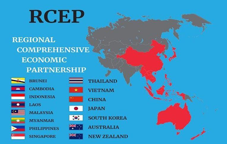 Países que compõem o RCEP (Parceria Econômica Regional Abrangente)