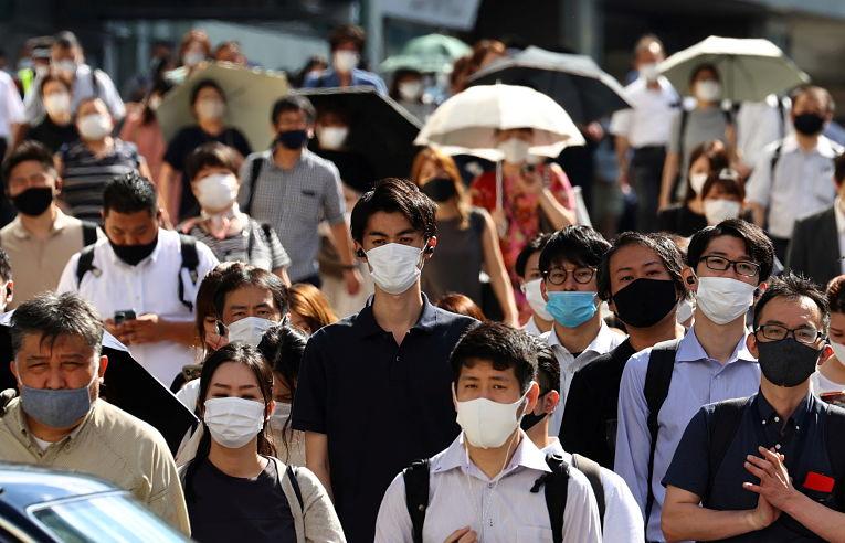 Nesta sexta-feira (6) o Japão atingiu a marca de um milhão de pessoas contaminadas pelo SARS-CoV-2. Foto por Kim Kyung-Hoon/Reuters