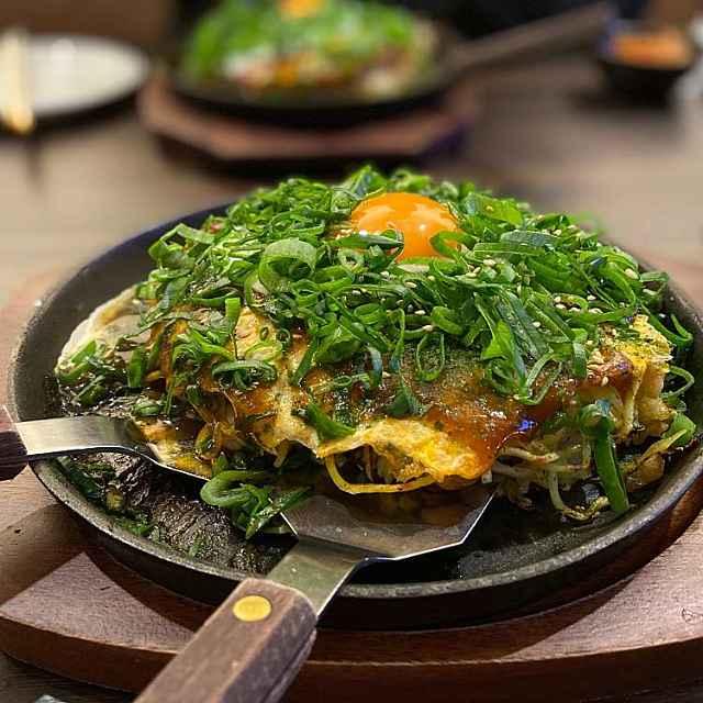 Panqueca japonesa Hiroshimayaki
